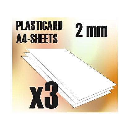 ABS Plasticard A4 - 2 mm COMBOx3 sheets