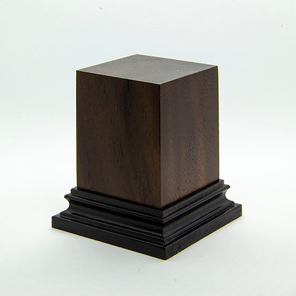 Wooden Display Plinth 40x40mm - NOCE CALIFONIA