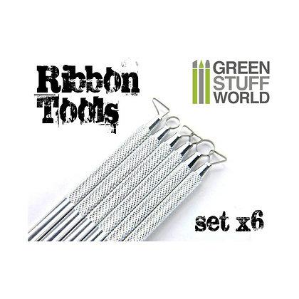 6x Mini Ribbon Sculpting Tool Set