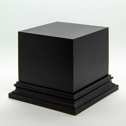 Wooden Display Plinth 60x60mm - BLACK