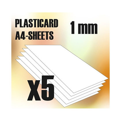 ABS Plasticard A4 - 1 mm COMBOx5 sheets