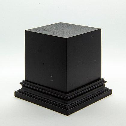 Wooden Display Plinth 50x50mm - BLACK