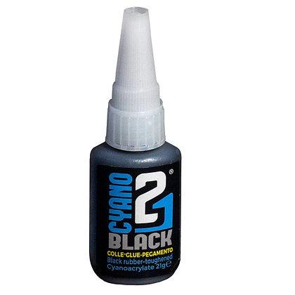 Colle 21 Black-21gr. Super Glue Black Cyanoacrylate ideal for Modeling and DIY