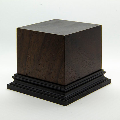 Wooden Display Plinth 60x60mm - NOCE CALIFONIA