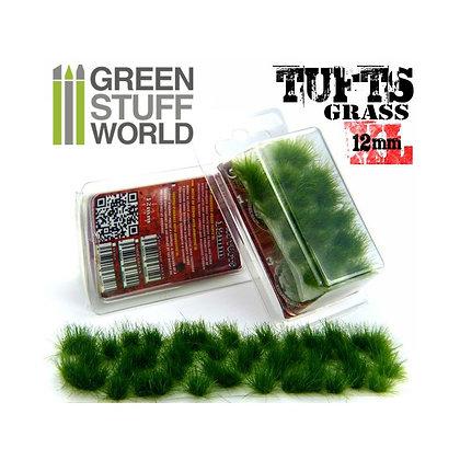 Grass TUFTS XL - 12mm self-adhesive - DARK GREEN