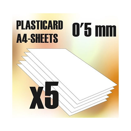 ABS Plasticard A4 - 0,5 mm COMBOx5 sheets