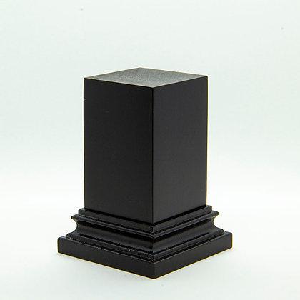Wooden Display Plinth 30x30mm - BLACK