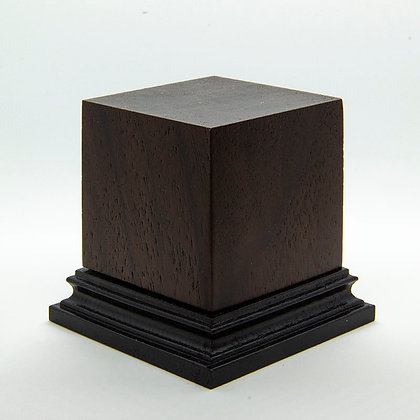 Wooden Display Plinth 50x50mm - NOCE CALIFONIA