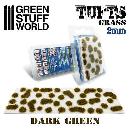 Grass TUFTS - 2mm self-adhesive - DARK GREEN
