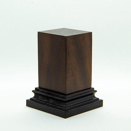 Wooden Display Plinth 30x30mm - NOCE CALIFONIA
