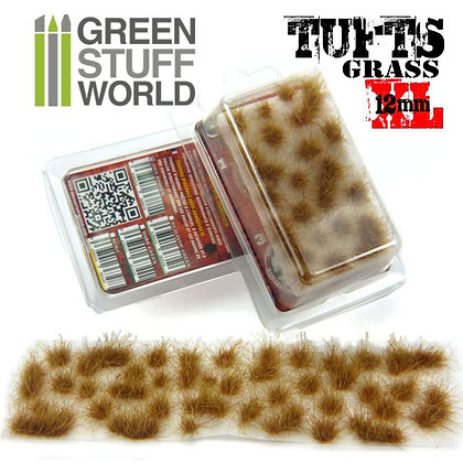 Grass TUFTS XL - 12mm self-adhesive - DRY BROWN