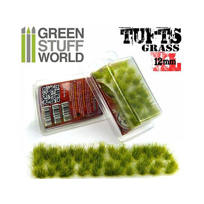 Grass TUFTS XL - 12mm self-adhesive - REALISTIC GREEN