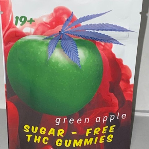 Sugar Free Gummy's Green Apple 200MG