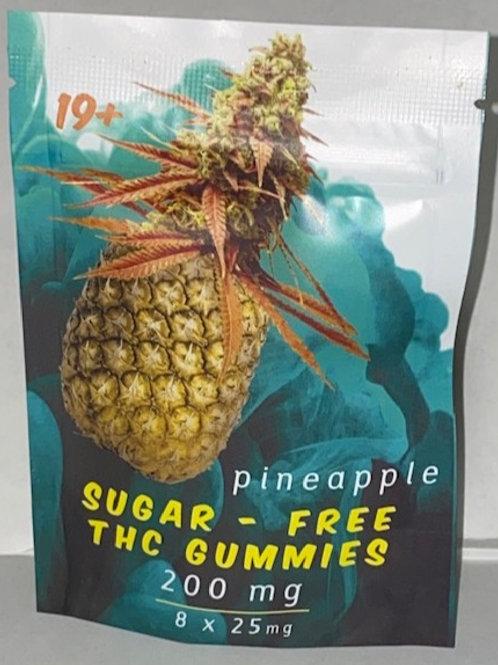 Sugar Free Gummy's Pineapple 200MG