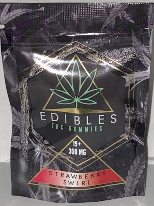 Strawberry Swirl THC Edibles 300MG