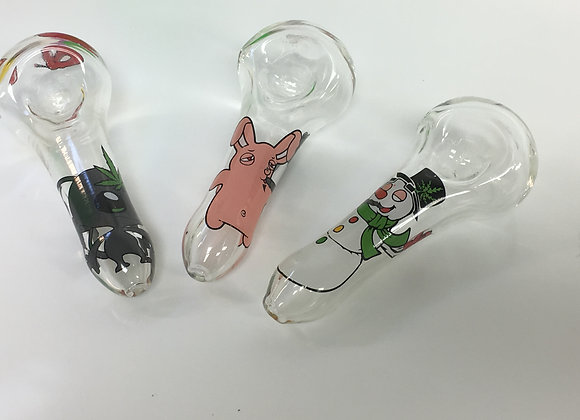 Glass Character Pipes