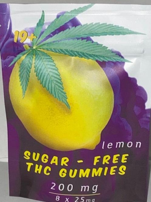 Sugar Free Gummy's Lemon 200MG