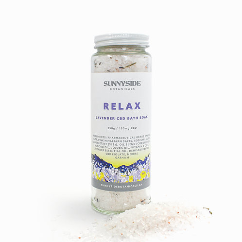 Bath Soak - Relax (Lavender)   250g / 150mg CBD
