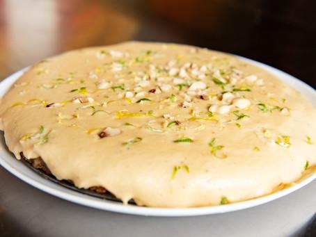 Torta de limão siciliano (feita com inhame)
