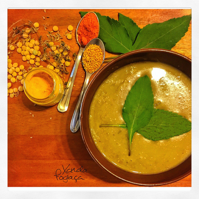 Creme de lentilha com masala