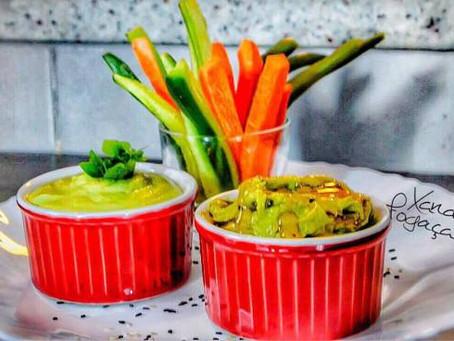 Crudités com maionese de abacate