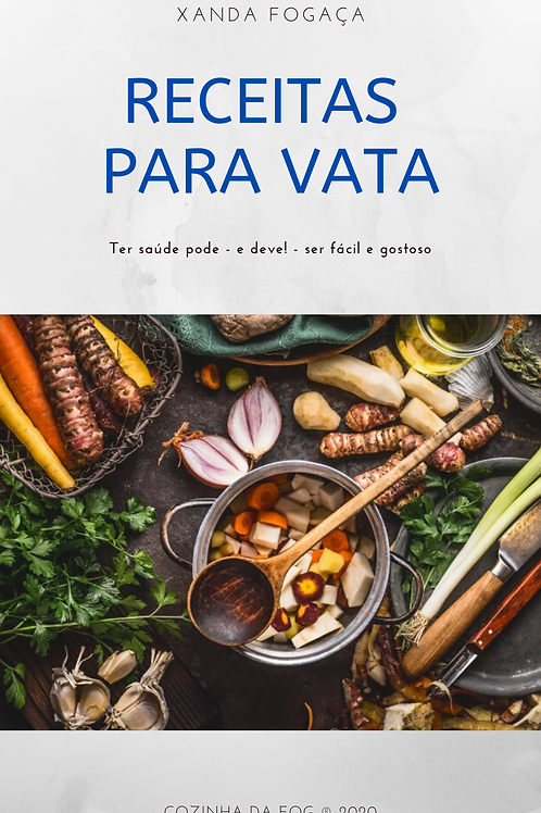 """E-book """"Receitas para Vata"""""""