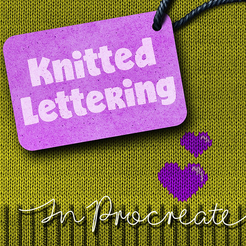 KNITTED LETTERING