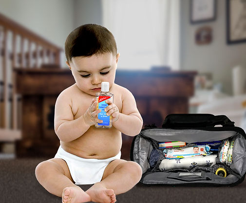 baby with sanitizer - bag.jpg