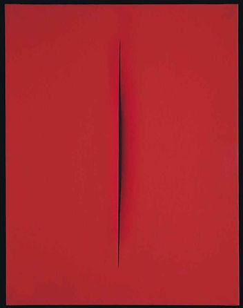 Lucio Fontana Concetto spaziale, Attesa, 1964