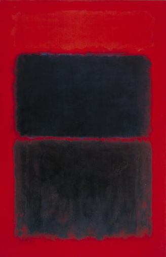 Mark Rothko  Light Red Over Black, 1957  Oil paint on canvas  90 3/4 x 60 inches  230.6 x 152.7 cm