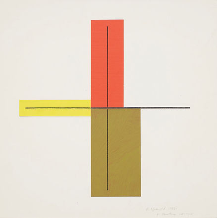 Robert Mangold Red/Yellow/Blue - Green + Within +, 1982