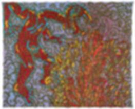 Keith Haring Moses and the Burning Bush, 1985