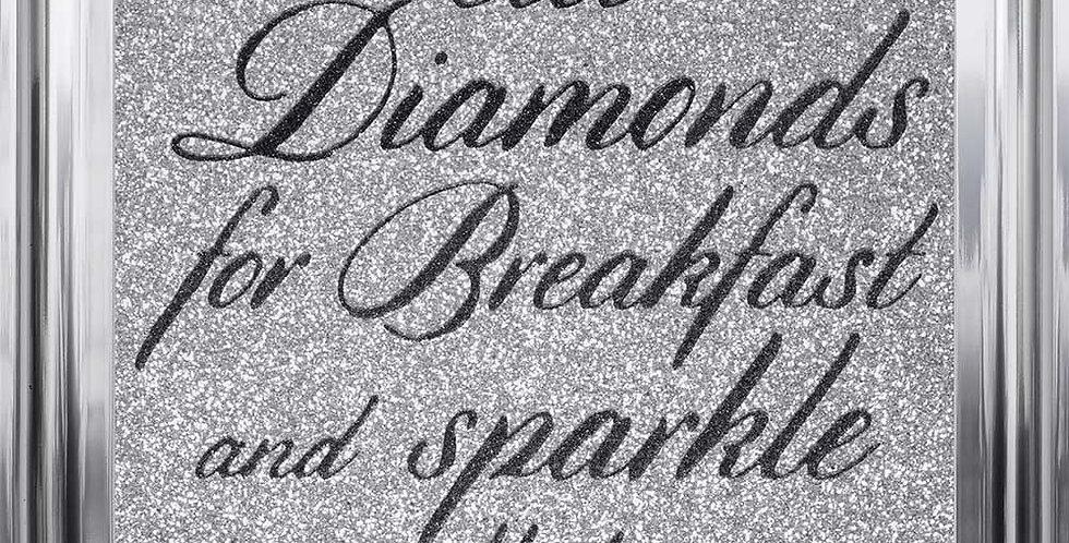 Eat Diamonds glitter art
