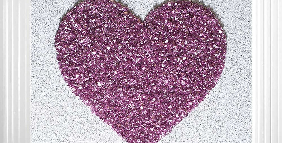 Sparkly glitter heart in Pink