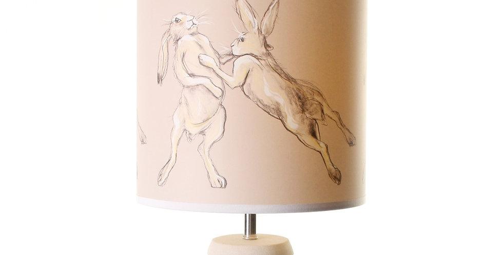 BOXING HARES LAMPSHADE - CAROLINE WALKER ARTIST
