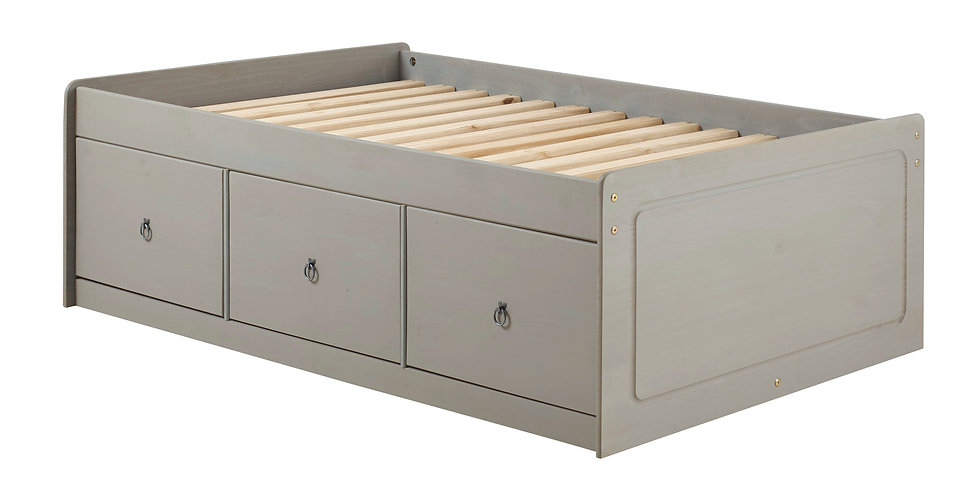 "Cabin bed 4'6"" with six drawers"