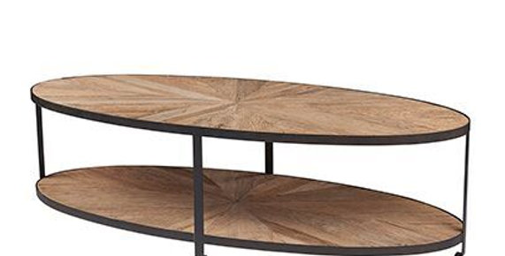 Reclaimed Elm oval coffee table