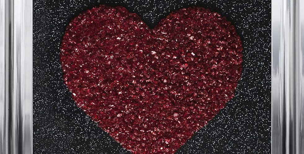 Sparkly glitter heart in Red