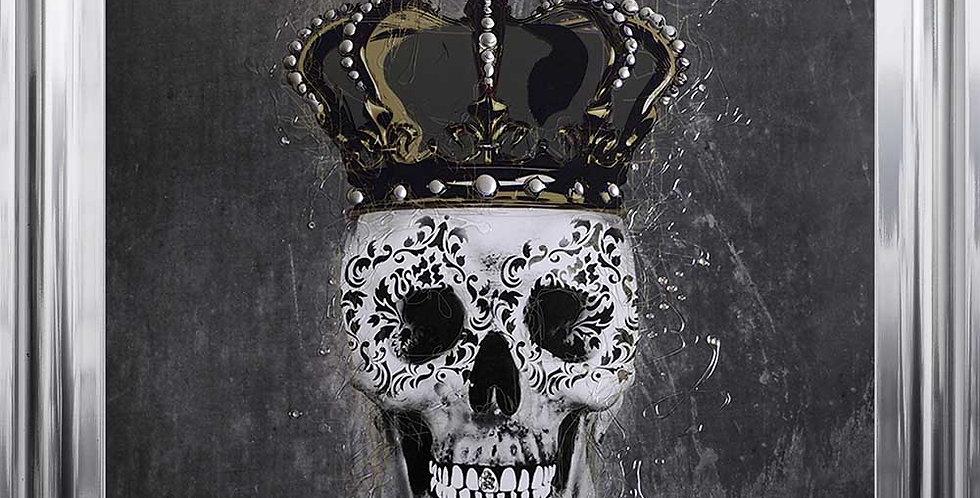 Crowned Skull on black