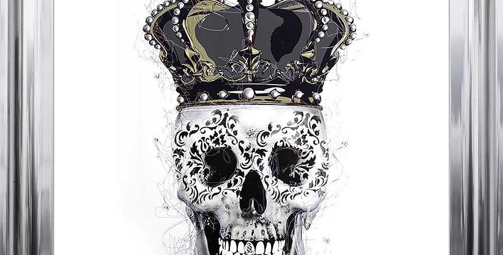 Crowned Skull on white