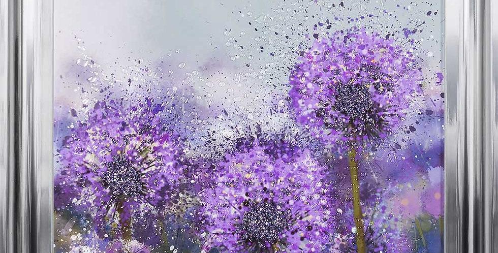 Alliums in Bloom glitter art