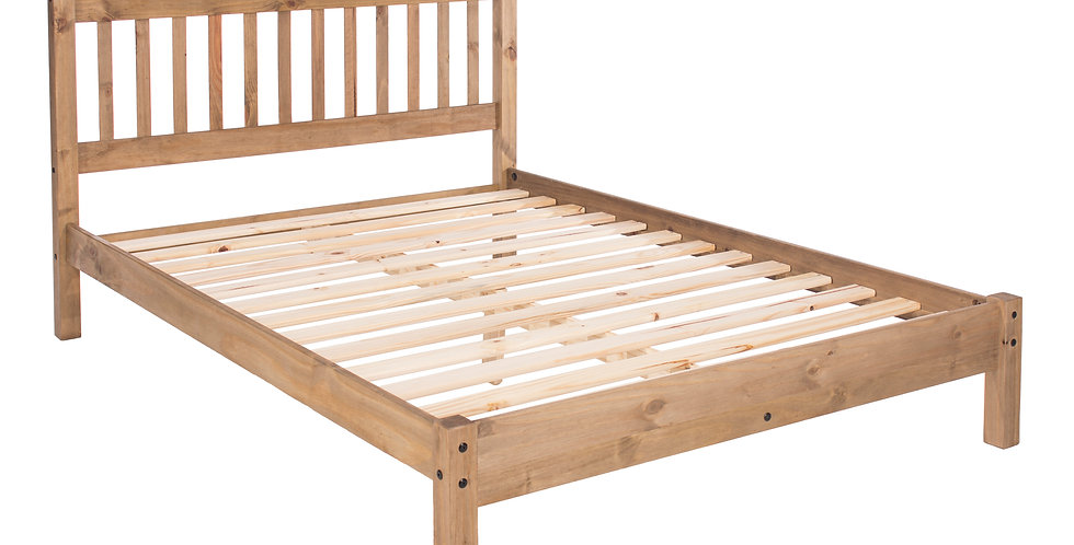 "Double bed 4'6"" with low end bedstead"