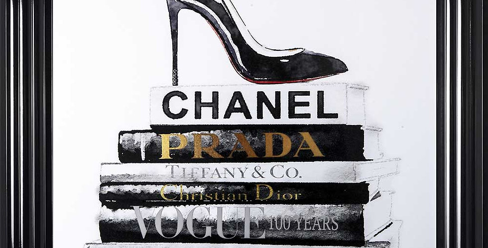 Chanel books and High heel shoe