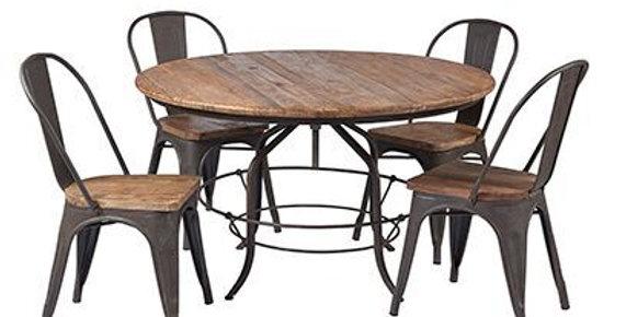 Revolving Elm dining table