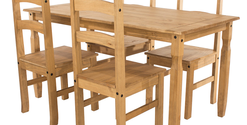 Dining table (1180mm) and 4 chairs