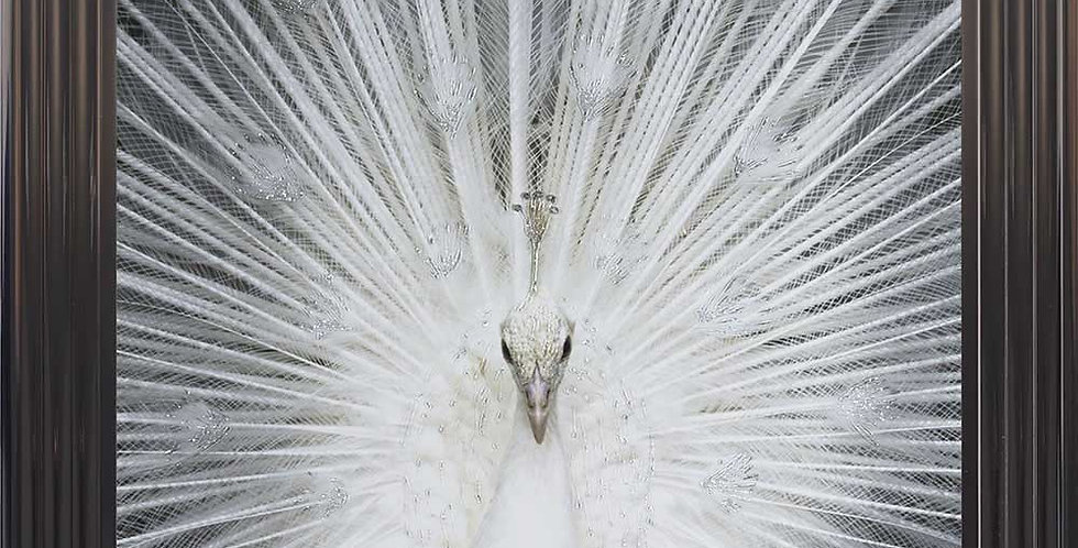 Peacock glitter art