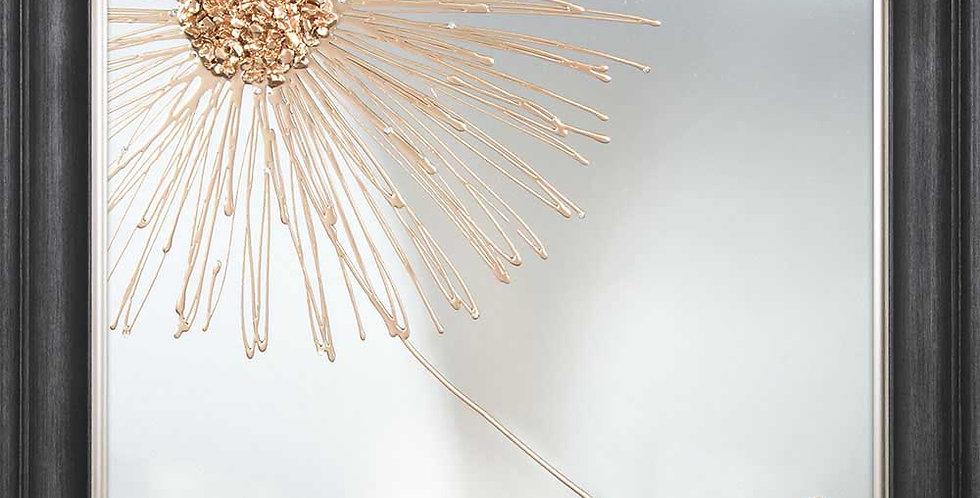 Dandelion Mirror Art Rose Gold