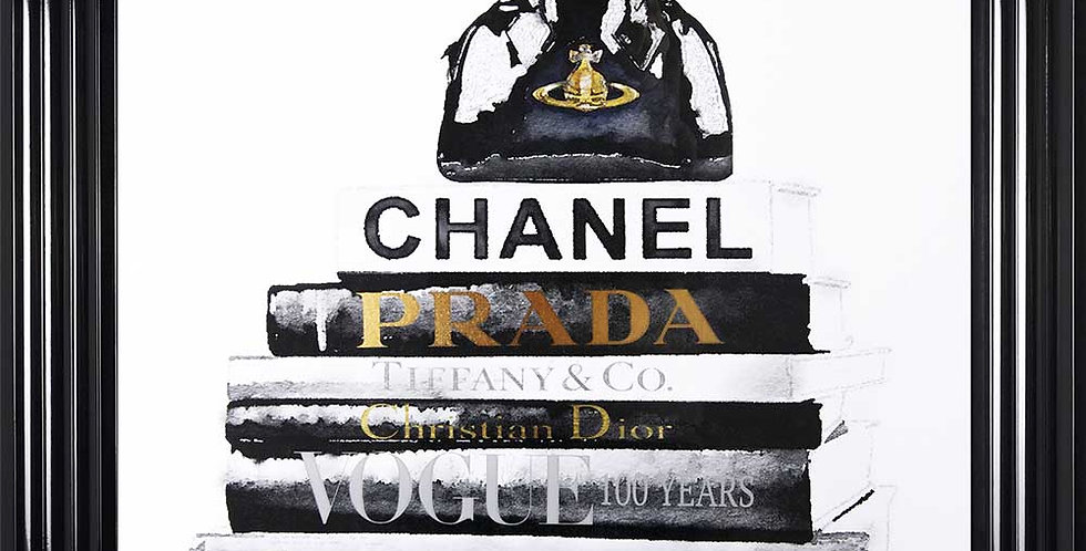 Chanel books and Westwood Bag