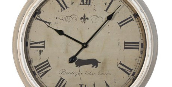 CHIEN DOG CLOCK