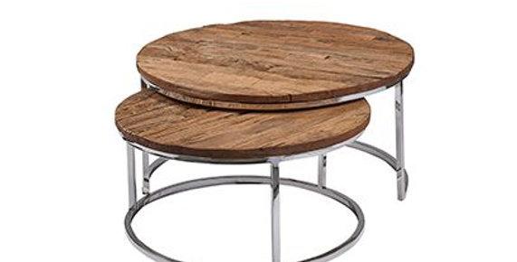 Sleeper circular nesting coffee tables